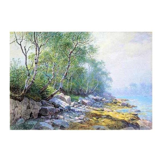 cuadros de mapas, grabados y acuarelas - Cuadro -Seal Harbor Mount Desert Maine-