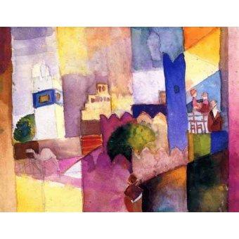 cuadros de mapas, grabados y acuarelas - Cuadro -Macke-023- - Macke, August
