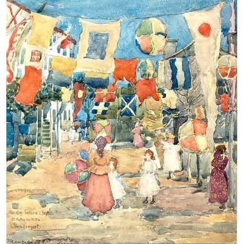 cuadros de mapas, grabados y acuarelas - Cuadro -Fiesta Venice, S. Pietro in Volta-