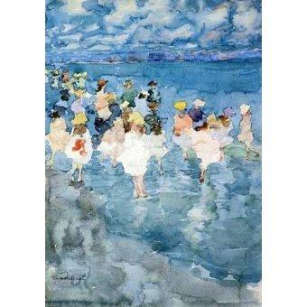 Cuadro -Niños en la playa-