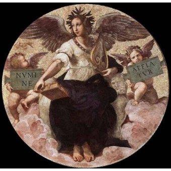 cuadros de mapas, grabados y acuarelas - Cuadro -Stanza della Segnatura - Poetry- - Rafael, Sanzio da Urbino Raffael