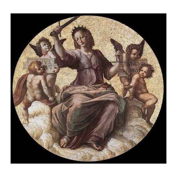 cuadros de mapas, grabados y acuarelas - Cuadro -Stanza della Segnatura - Justice-