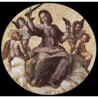 cuadros de mapas, grabados y acuarelas - Cuadro -Stanza della Segnatura - Justice- - Rafael, Sanzio da Urbino Raffael