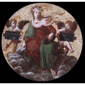 cuadros de mapas, grabados y acuarelas - Cuadro -Stanza della Segnatura - Theology- - Rafael, Sanzio da Urbino Raffael