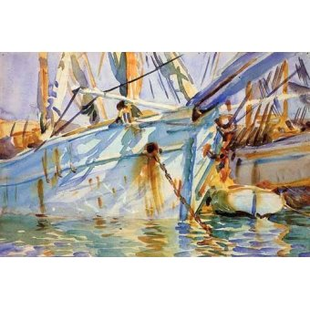- Cuadro -En un puerto Levantino- - Sargent, John Singer