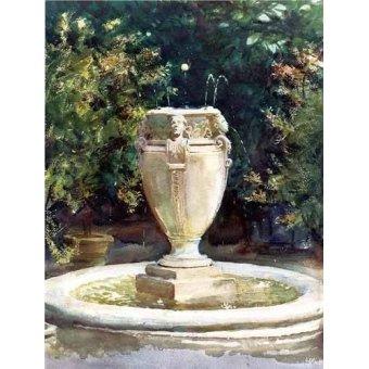 - Cuadro -Vase Fountain Pocantico- - Sargent, John Singer