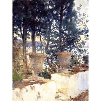 - Cuadro -Una terraza en Corfu- - Sargent, John Singer