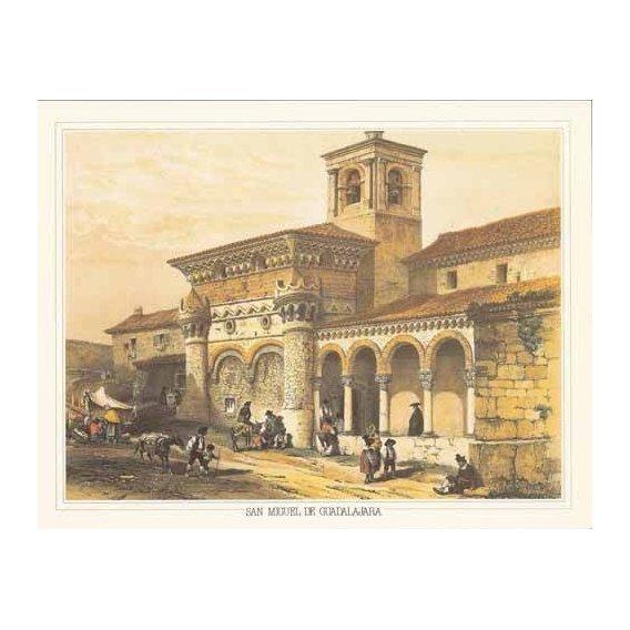 cuadros de mapas, grabados y acuarelas - Cuadro -San Miguel de Guadalajara-