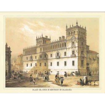 cuadros de mapas, grabados y acuarelas - Cuadro -Palacio del Conde de Monterrey en Salamanca- - Villaamil, Jenaro Perez de
