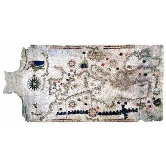 cuadros de mapas, grabados y acuarelas - Cuadro -Mapa del Mediterráneo- sobre piel de carnero- MAPAS - Mapas antiguos - Anciennes cartes