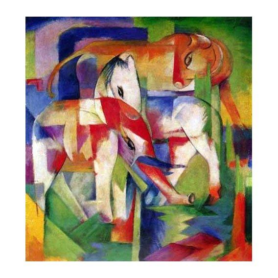 cuadros infantiles - Cuadro -Elefante, caballo y vaca-
