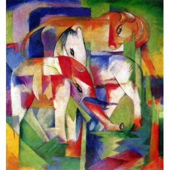 - Cuadro -Elefante, caballo y vaca- - Marc, Franz