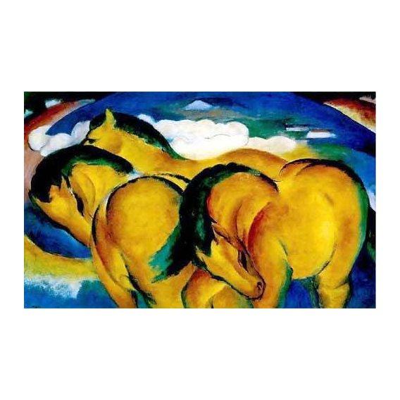 cuadros infantiles - Cuadro -Caballitos amarillos-