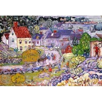 cuadros infantiles - Cuadro -The Hay Cart- - Prendergast, Maurice