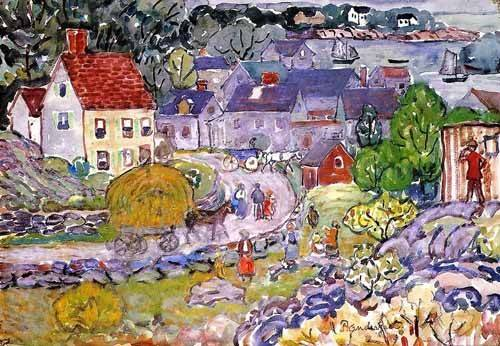 cuadros-infantiles - Cuadro -The Hay Cart- - Prendergast, Maurice