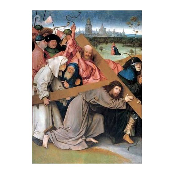 cuadros religiosos - Cuadro -Cristo portando la cruz-