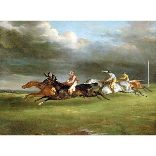 cuadros de fauna - Cuadro -Carrera de caballos en Epsom-
