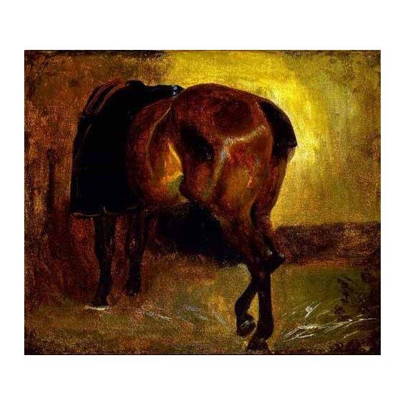 cuadros de fauna - Cuadro -Estudio de un caballo-