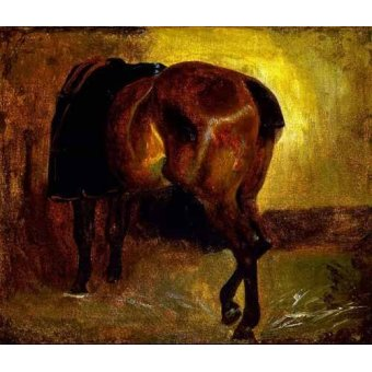 - Cuadro -Estudio de un caballo- - Gericault, Theodore