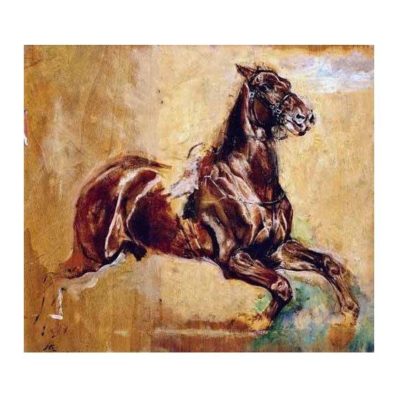cuadros de fauna - Cuadro -Estudio de caballo-