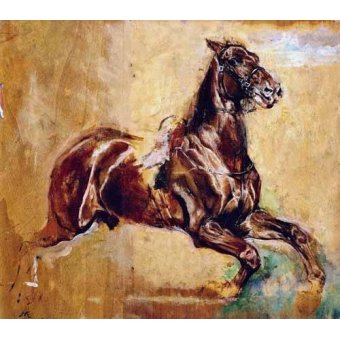 - Cuadro -Estudio de caballo- - Meissoner, Jean Louis