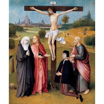 - Cuadro -La Crucifixión- - Bosco, El (Hieronymus Bosch)