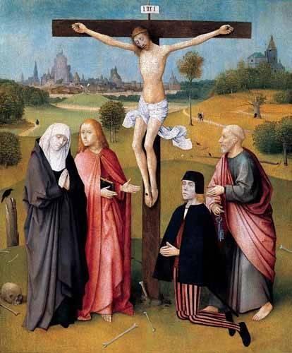 cuadros-religiosos - Cuadro -La Crucifixión- - Bosco, El (Hieronymus Bosch)