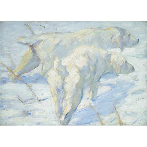 cuadros de fauna - Cuadro -Perros pastores siberianos-