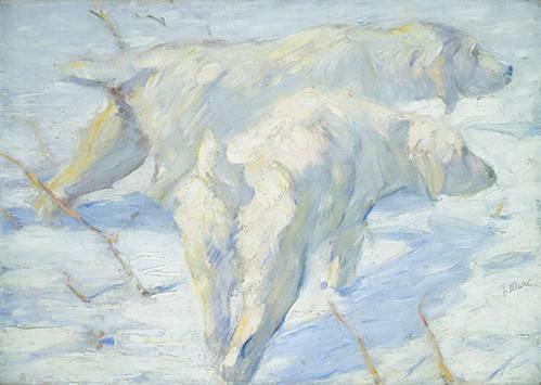 cuadros-de-fauna - Cuadro -Perros pastores siberianos- - Marc, Franz