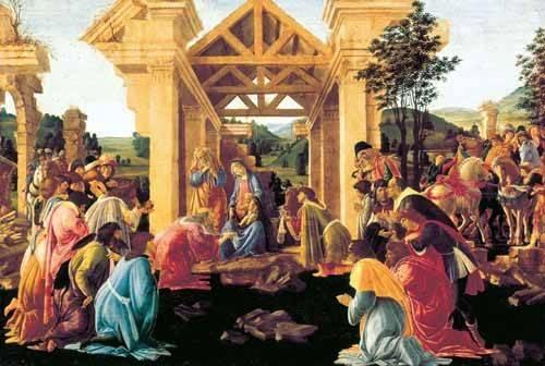 cuadros-religiosos - Cuadro -Adoración de los Reyes Magos- - Botticelli, Alessandro