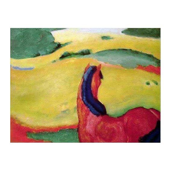 cuadros de fauna - Cuadro -Caballo en un paisaje-