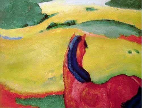 cuadros-de-fauna - Cuadro -Caballo en un paisaje- - Marc, Franz