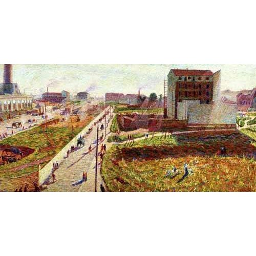 cuadros de paisajes - Cuadro -Talleres en Porta Romana-
