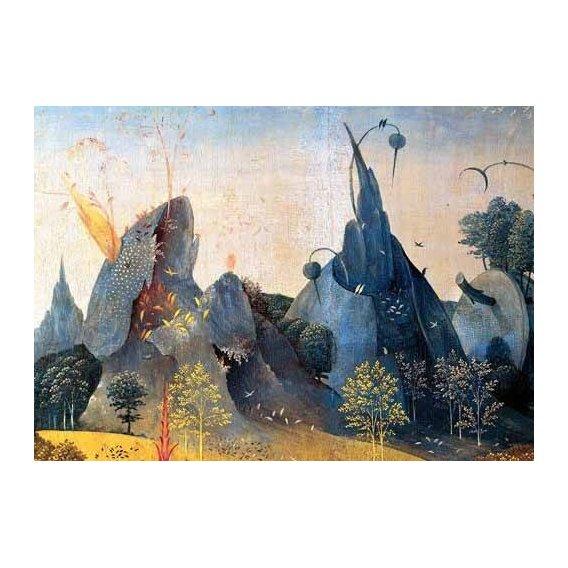 cuadros de paisajes - Cuadro -Triptico: Jardin de las delicias, -Paisaje azul--