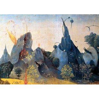 - Cuadro -Triptico: Jardin de las delicias, -Paisaje azul-- - Bosco, El (Hieronymus Bosch)