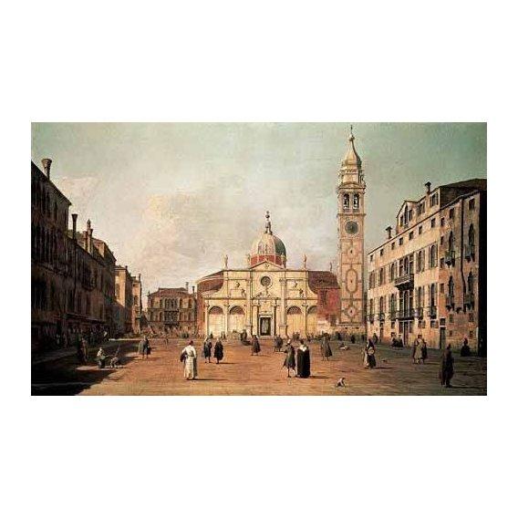 cuadros de paisajes - Cuadro -Venecia, -El campo Santa Maria Formosa--