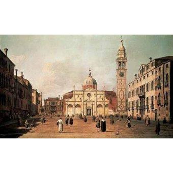 - Cuadro -Venecia, -El campo Santa Maria Formosa-- - Canaletto, Giovanni A. Canal