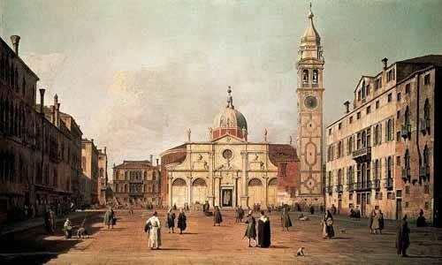 cuadros-de-paisajes - Cuadro -Venecia, -El campo Santa Maria Formosa-- - Canaletto, Giovanni A. Canal