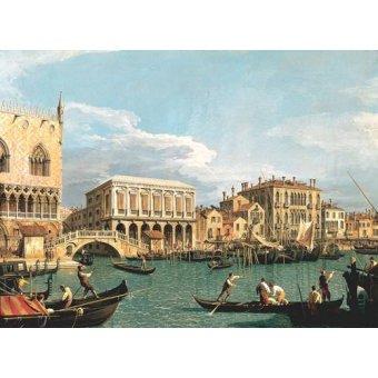 cuadros de marinas - Cuadro -La Mole vista desde San Marco- - Canaletto, Giovanni A. Canal