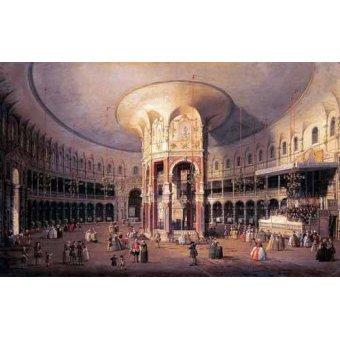 - Cuadro -Interior de la Rotonda- - Canaletto, Giovanni A. Canal
