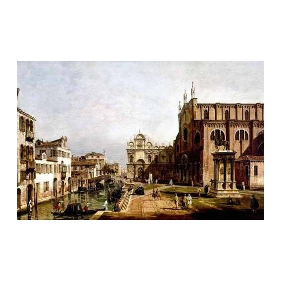 cuadros de paisajes - Cuadro -Vista de Venecia, Iglesia de Santi Giovani-