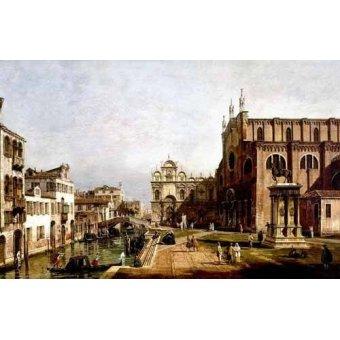 - Cuadro -Vista de Venecia, Iglesia de Santi Giovani- - Canaletto, Giovanni A. Canal