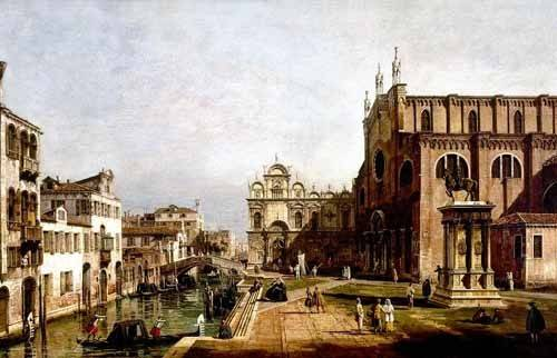 cuadros-de-paisajes - Cuadro -Vista de Venecia, Iglesia de Santi Giovani- - Canaletto, Giovanni A. Canal