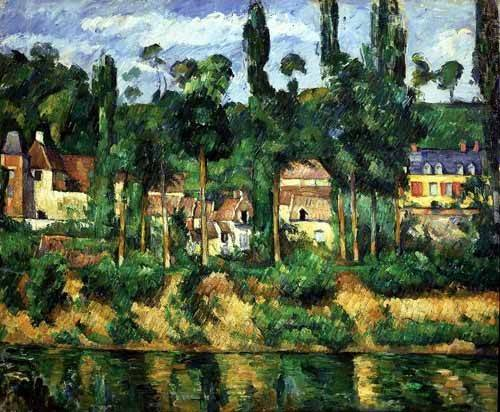 cuadros-de-paisajes - Cuadro -El castillo de Medan- - Cezanne, Paul