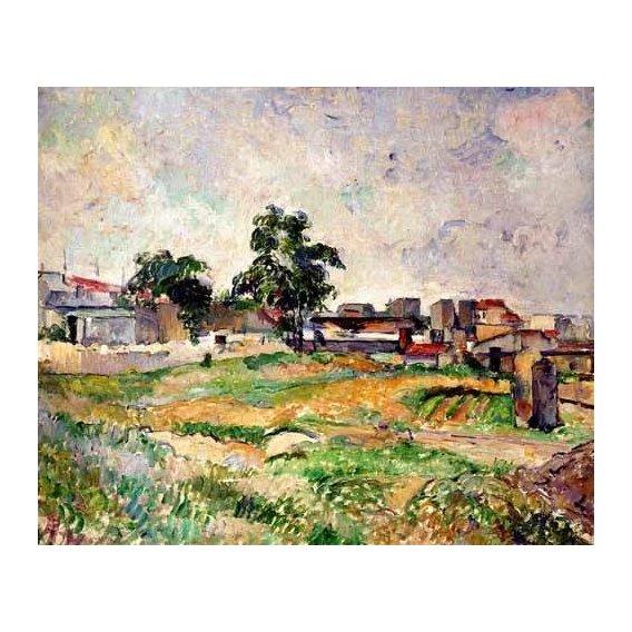 cuadros de paisajes - Cuadro -Paisaje cerca de París-