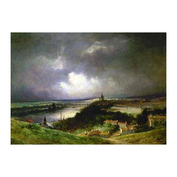 cuadros de paisajes - Cuadro -Paisaje con el río-