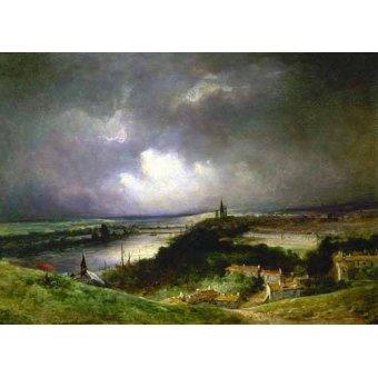 - Cuadro -Paisaje con el río- - Constable, John