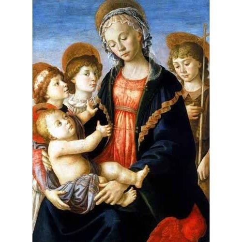 Cuadro -La virgen y el Niño con San Juan Bautista y dos angeles-