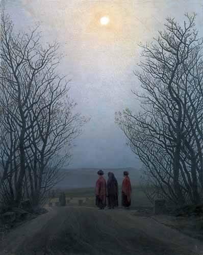 cuadros-de-paisajes - Cuadro -Mañana de Pascua- - Friedrich, Caspar David