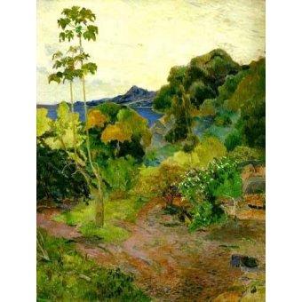 - Cuadro -Paisaje de la Martinica- - Gauguin, Paul